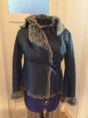 Hugo Boss Fur Jacket black fur