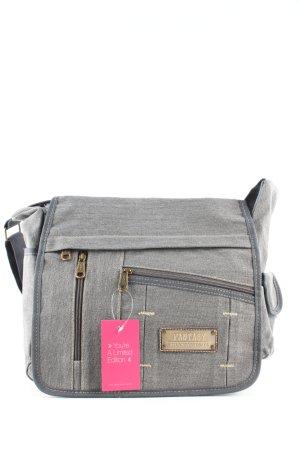 Fantasy College Bag light grey flecked casual look
