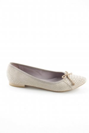 Fantasy per Effegi Mary Jane Ballerinas natural white animal pattern casual look