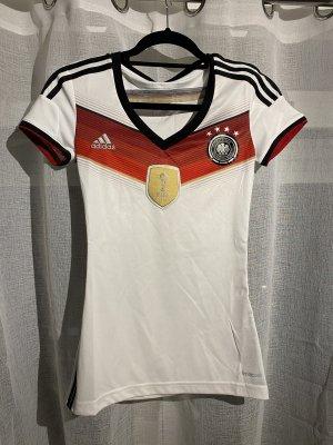 Adidas T-shirt de sport blanc-rouge