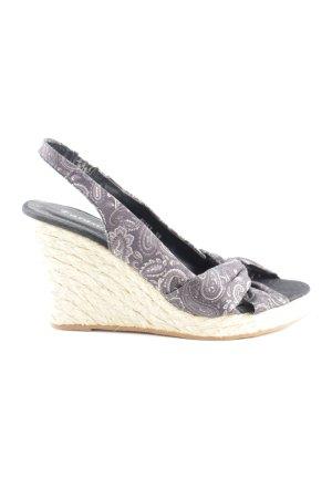 Farasion Wedges Sandaletten abstraktes Muster Casual-Look