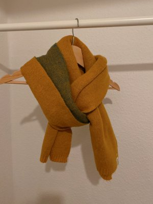 Gebreide sjaal licht Oranje-oker