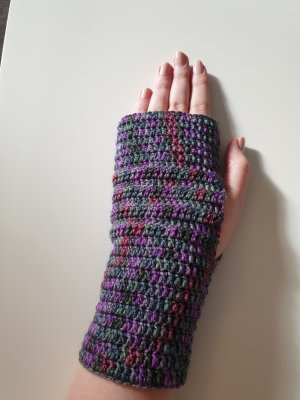 Handarbeit Guanto senza dita multicolore