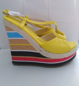 Makgio Wedge Sandals yellow