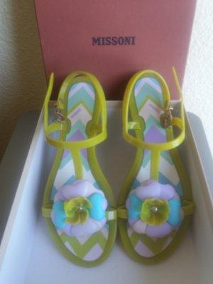 Farbenfrohe Missoni Sandalen neu und ungetragen Gr. 38