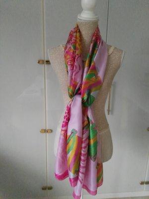 Bufanda de seda rosa claro-rosa