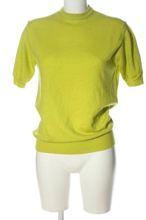 farina Maglione a maniche corte giallo pallido stile casual