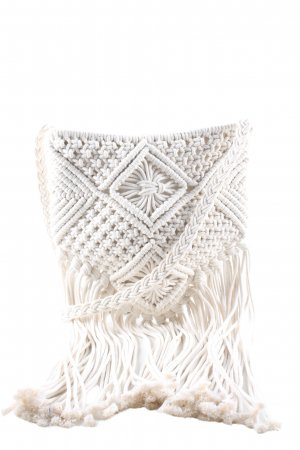 Faro mariner Fringed Bag white casual look
