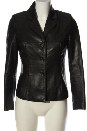 Farrutx Leather Blazer black casual look