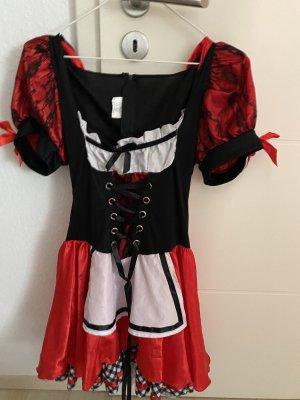 Kostium czarny-czerwony