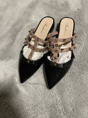 fashion Zapatos sin cordones negro-camel