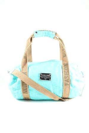 Fashion & Borse Sac de sport turquoise-crème style athlétique