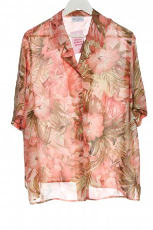 Fashion Classics Chemise à manches courtes rose-brun imprimé allover élégant
