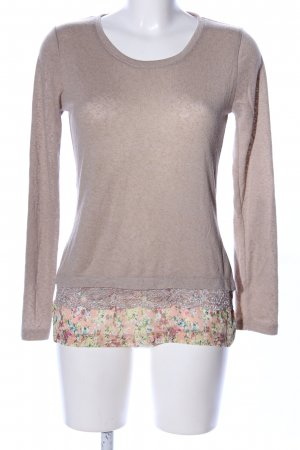 Fashion Club Rundhalspullover braun Blumenmuster Casual-Look