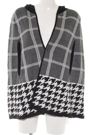 Fashion Club Strickjacke schwarz-weiß Hahnentrittmuster Casual-Look
