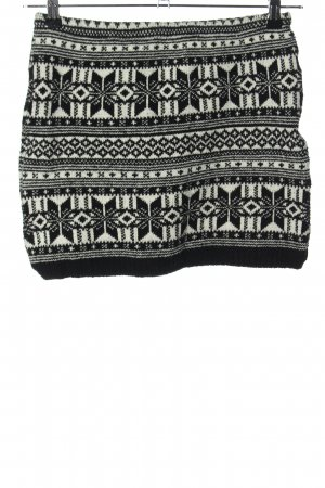 Fashion Club Knitted Skirt black-white graphic pattern casual look