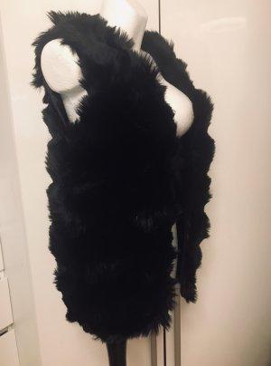 Fashion Damen Winter Weste schwarz Neu Kunstfaser M/L