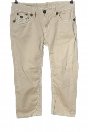 Fashion Denim Pantalon 3/4 blanc cassé style décontracté