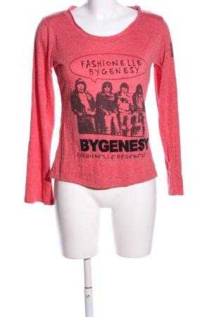 Fashion Elle Longsleeve rot-schwarz Motivdruck Casual-Look