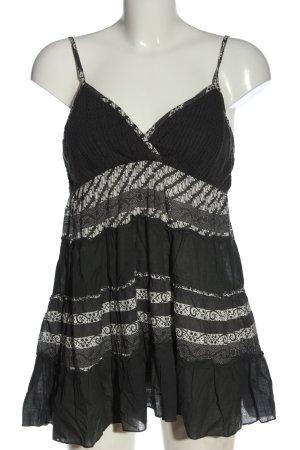 Fashion Elle Top largo gris claro-blanco estampado con diseño abstracto