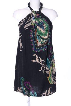 Robe dos-nu motif abstrait style décontracté