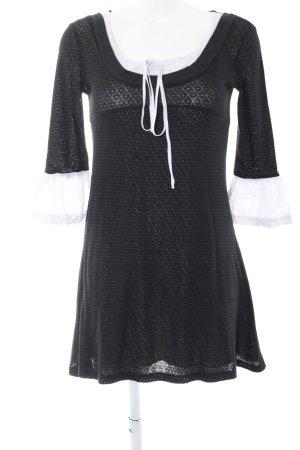 Fashion Elle Strickkleid schwarz-weiß Casual-Look