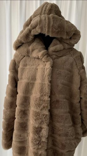 100% Fashion Oversized Coat light brown-camel