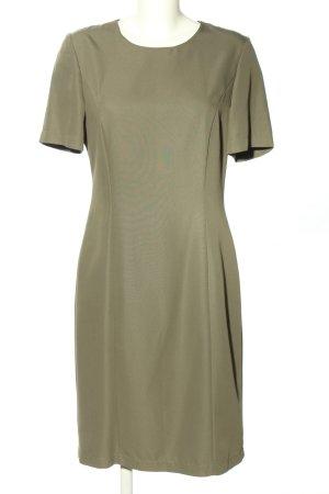 Fashion FOR YOU Kurzarmkleid khaki Business-Look