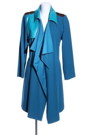 fashion hero for Karstadt Übergangsmantel blau-türkis Glanz-Optik