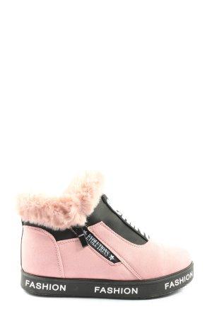 fashion Zapatillas altas letras impresas look casual