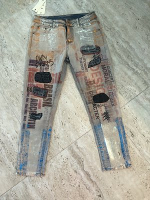 100% Fashion 7/8 Length Jeans multicolored
