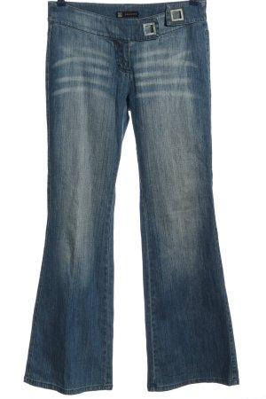 fashion Jeans flare bleu style décontracté