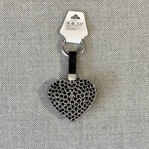 fashion jewelery Key Chain black-silver-colored
