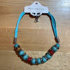 fashion jewelery Naszyjnik turkusowy-srebrny