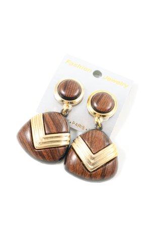 Fashion Jewelry Clip d'oreille brun-doré style décontracté