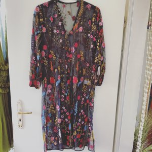 Maxi-jurk zwart-karmijn