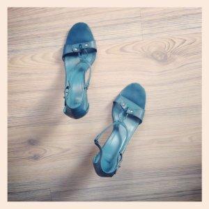 Fashion ++ Leder HighHeel Pantolette pretty Ballerina ++ Peeptoe MANGO Sandale