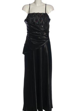 Fashion New York Ballkleid schwarz Glanz-Optik