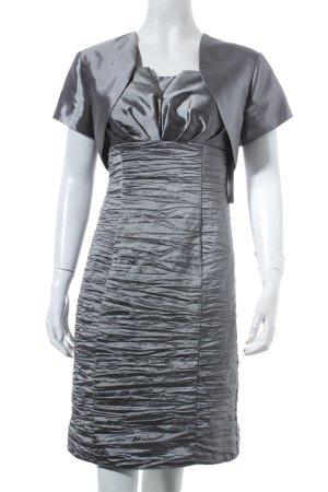 Fashion New York Cocktailkleid dunkelgrau-silberfarben Elegant