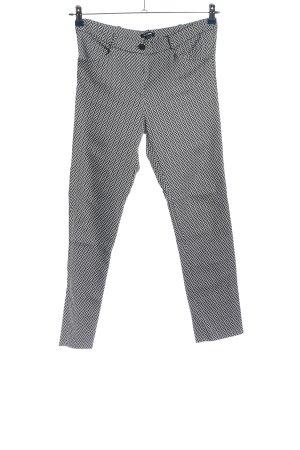 Fashion Nova Stretchhose schwarz-weiß Allover-Druck Casual-Look