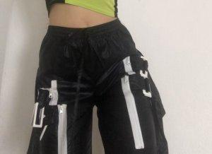 Hoge taille broek wit-zwart