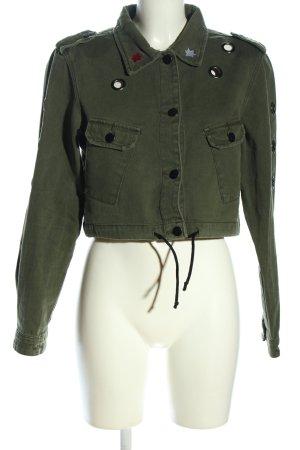 Fashion Nova Jeansjacke khaki Casual-Look