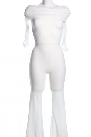 Fashion Nova Jumpsuit weiß extravaganter Stil