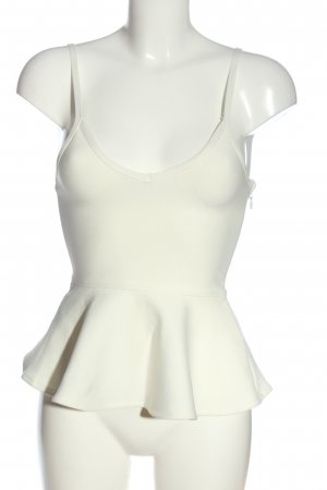 Fashion Nova Top peplum blanco look casual