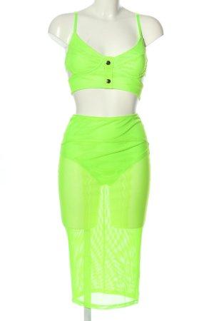 Fashion Nova Ensemble tissé vert fluo tissu mixte