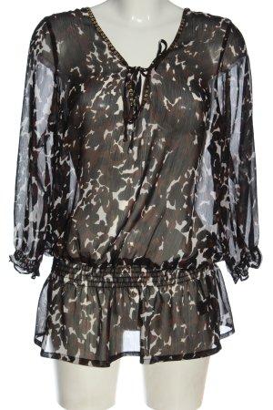 Fashion Safari Hemd-Bluse Allover-Druck Casual-Look
