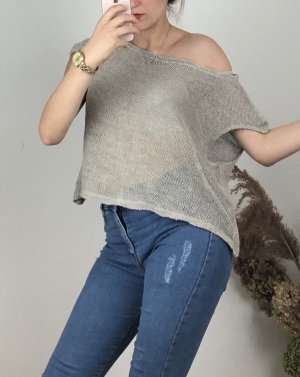 Maglia batik beige-marrone-grigio