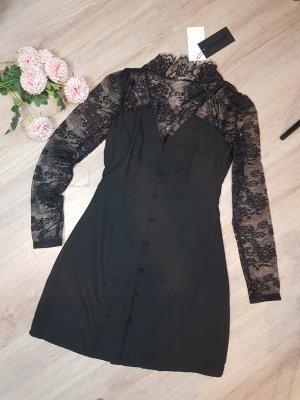 Fashion Union Abendkleid Spitze 36 schwarz neu