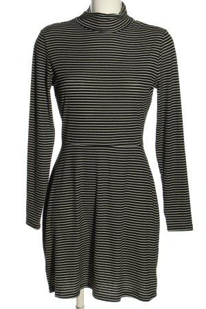 Fashion Union Cut-Out-Kleid schwarz-weiß Streifenmuster Casual-Look