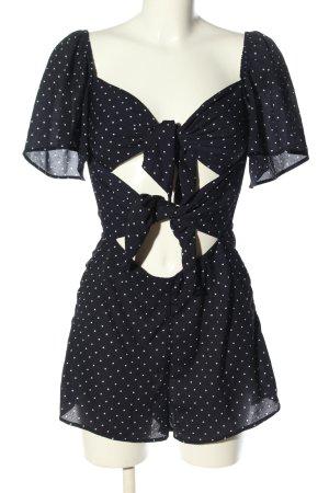 Fashion Union Jumpsuit schwarz-weiß Allover-Druck Casual-Look